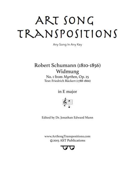 Widmung, Op. 25 no. 1 (E major)