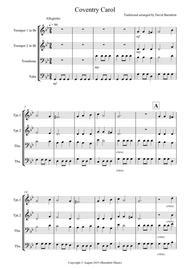 Coventry Carol for Brass Quartet