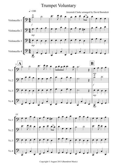 Trumpet Voluntary for Cello Quartet