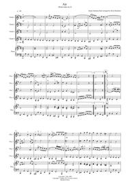 Air on a G String (from Suite No.3) for Violin Quartet