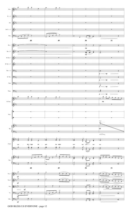 God Bless Us Everyone (from Disney's A Christmas Carol) - Full Score By Andrea Bocelli Glen ...
