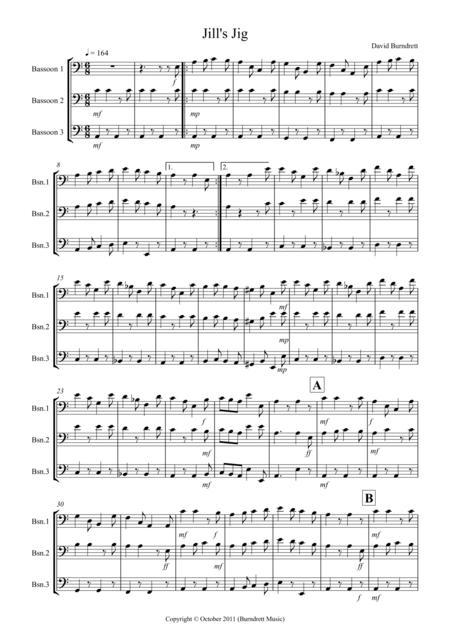 Jill's Jig for Bassoon Trio