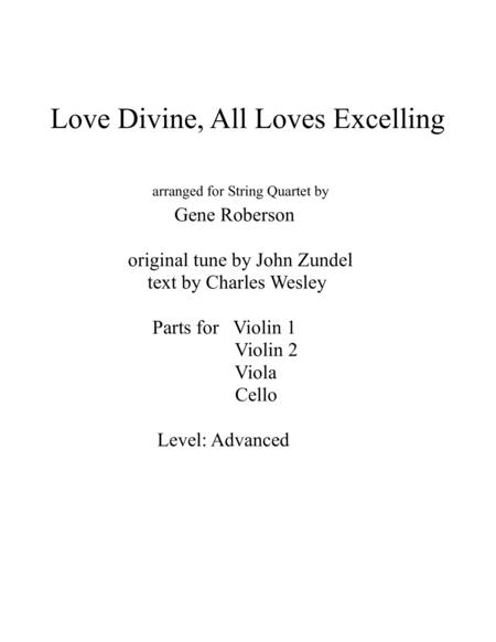 Love Divine  for String Quartet