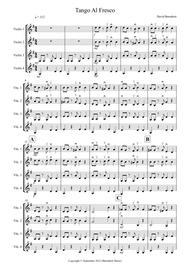 Tango Al Fresco For Beginning Violin Quartet