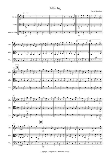 Jill's Jig for String Trio