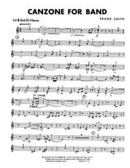 Canzone For Band - Eb Horn 1 & 2