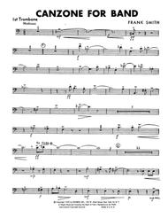 Canzone For Band - 1st Trombone