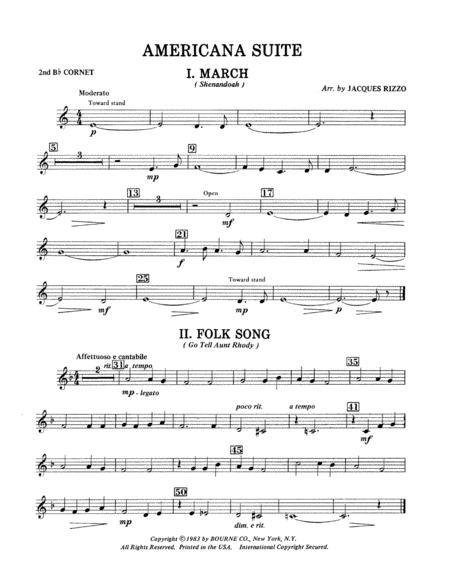 Americana Suite - 2nd Bb Cornet