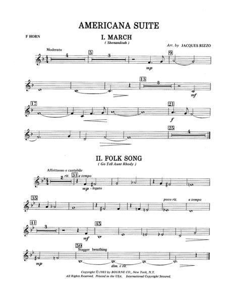 Americana Suite - F Horn