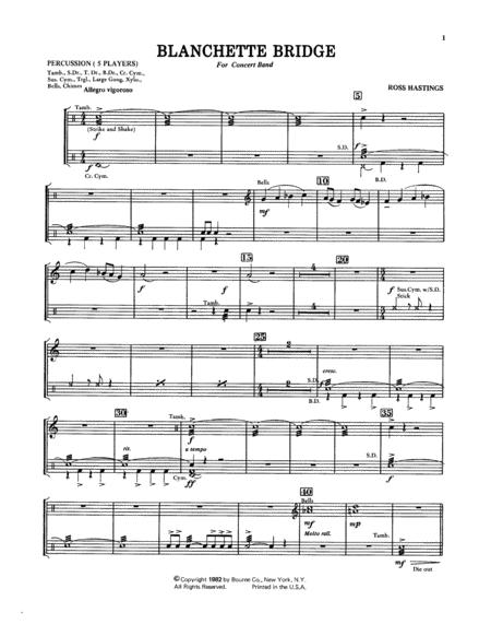 Blanchette Bridge - Percussion