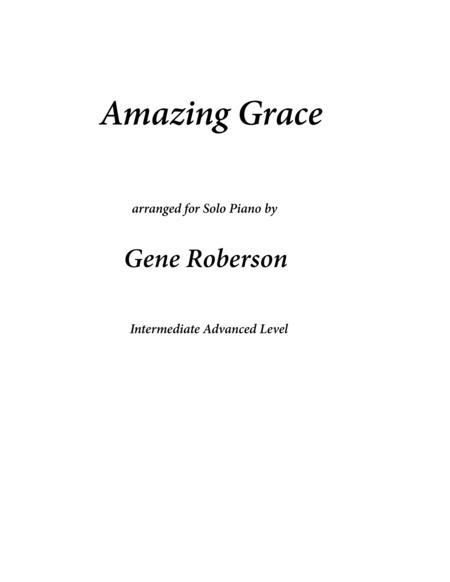Amazing Grace Concert Piano Arrangement