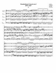 Brandenburg concerto no.2, BWV 1047