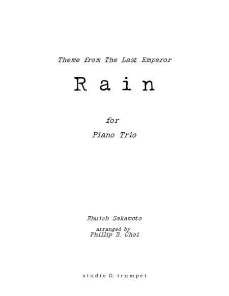 Rain for Piano Trio (Rhuich Sakamoto)