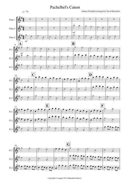 Pachelbel's Canon for Flute Trio