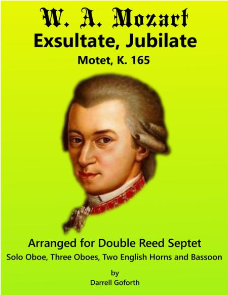 Mozart: Exsultate, Jubilate for Double Reed Septet