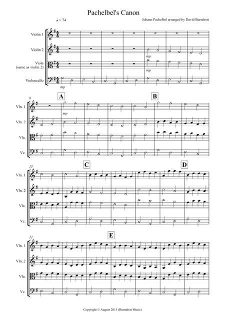 Pachelbel's Canon for String Trio