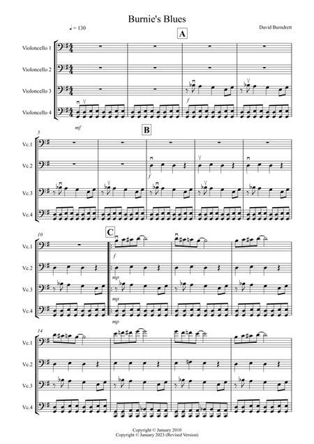 Burnie's Blues for Cello Quartet