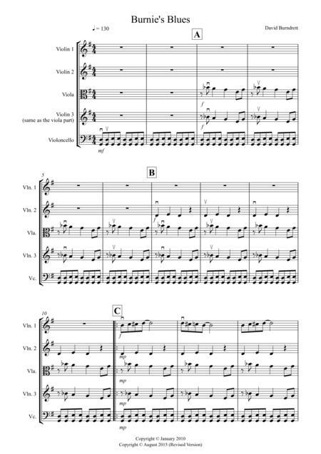 Burnie's Blues for String Quartet