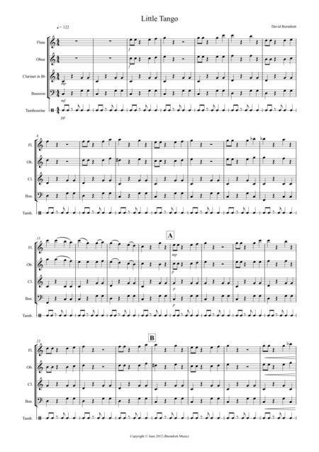 Little Tango for Beginning Wind Quartet
