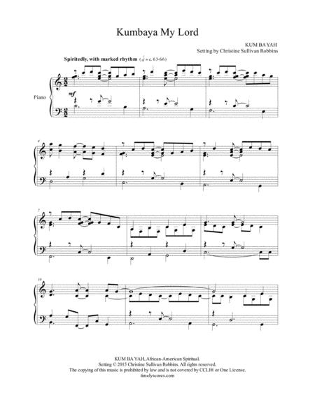 Download Kumbaya My Lord Sheet Music By African-America Spiritual ...