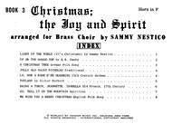 Christmas; The Joy & Spirit - Book 3/Horn in F