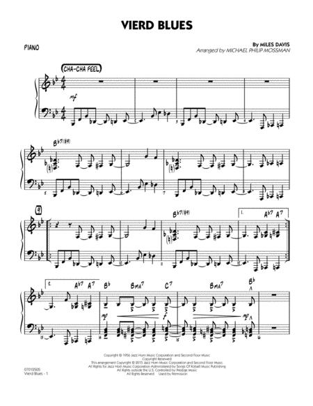 Download Vierd Blues - Piano Sheet Music By Miles Davis
