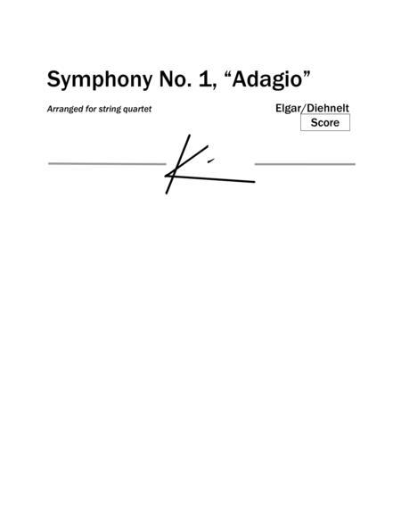 """Elgar: Symphony No.1, """"Adagio"""" for string quartet (Score)"""