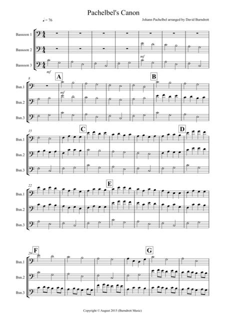 Pachelbel's Canon for Bassoon Trio