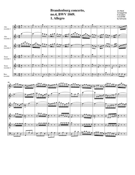 Brandenburg concerto no.4, BWV 1049