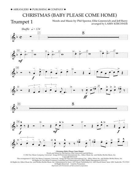 Christmas (Baby Please Come Home) - Bb Trumpet 1