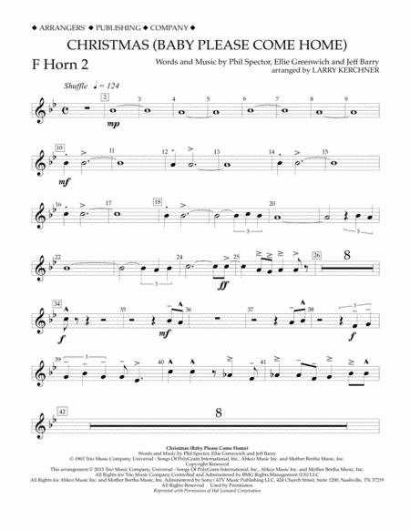 Christmas (Baby Please Come Home) - F Horn 2