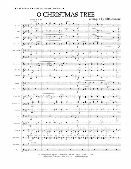 O Christmas Tree - Conductor Score (Full Score)