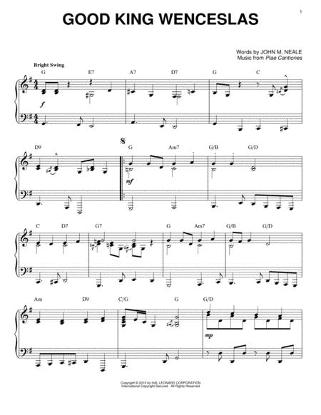 Good King Wenceslas [Jazz version] (arr. Brent Edstrom)