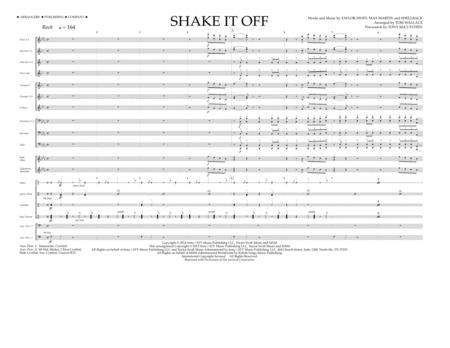 Shake It Off - Full Score
