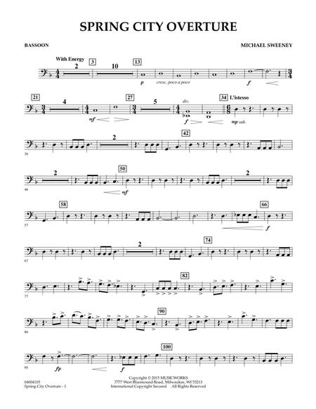 Spring City Overture - Bassoon