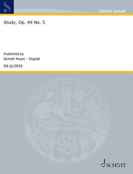 Study, Op. 49 No. 5