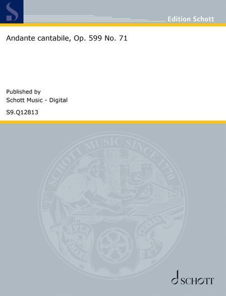 Andante cantabile, Op. 599 No. 71