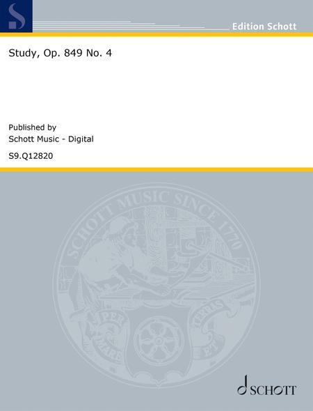 Study, Op. 849 No. 4