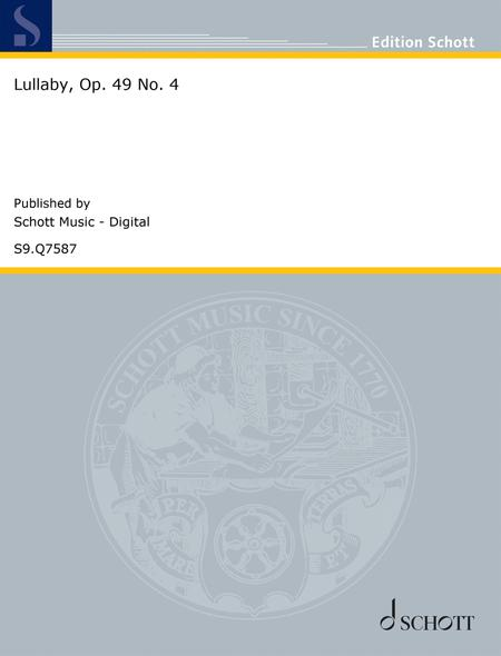 Lullaby, Op. 49 No. 4