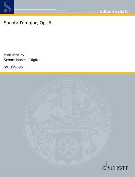 Sonata D major, Op. 6