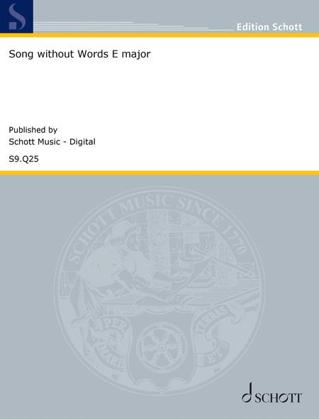Song without Words in E major, Op. 19 No. 1