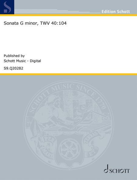 Sonata G minor, TWV 40:104