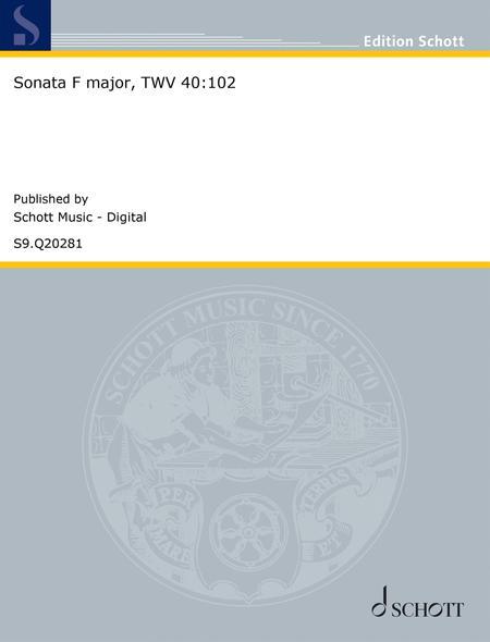 Sonata F major, TWV 40:102