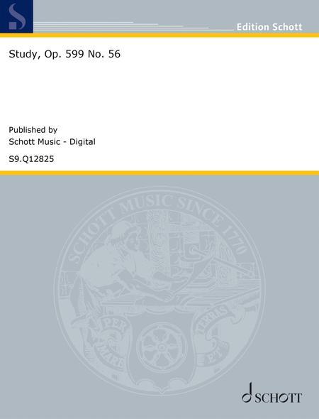 Study, Op. 599 No. 56