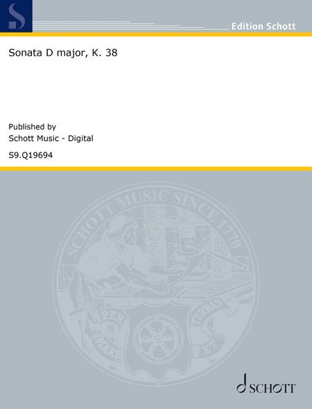 Sonata D major, K. 38