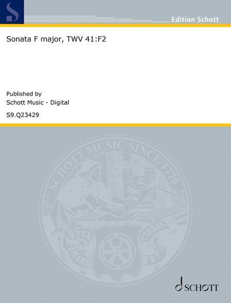 Sonata F major, TWV 41:F2