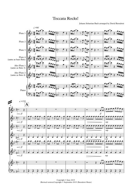 Toccata by Bach Rocks! for Flute Quartet