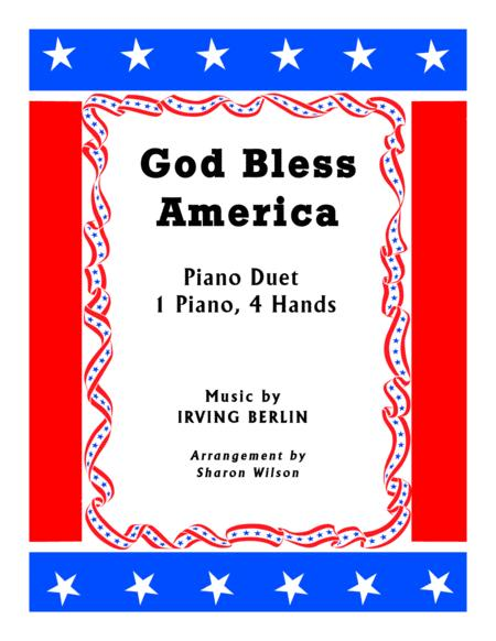 God Bless America (1 Piano, 4 Hands Duet)