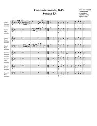 Sonata no.13 a8 (1615)