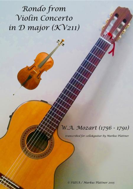 Mozart Rondo for Cello and Guitar